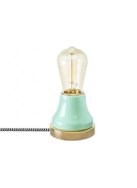 Lampka Lumica: Turkusowa Ceramika i Mosiądz