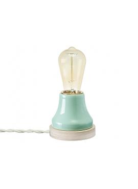 Lampka Lumica: Turkusowa Ceramika i Drewno