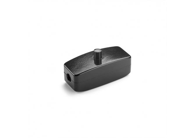 Włącznik naprzewodowy bakelitowy - czerń