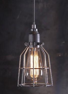Lampa z klatką stalową