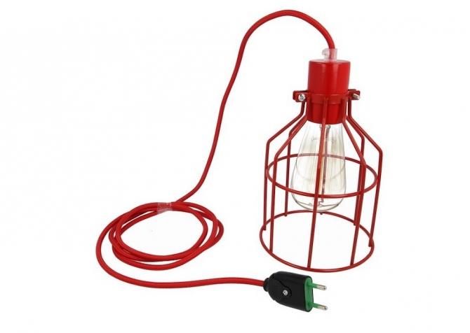 Lampa z klatką czerwoną A