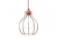 Lampa z klatką W2 - Miedź