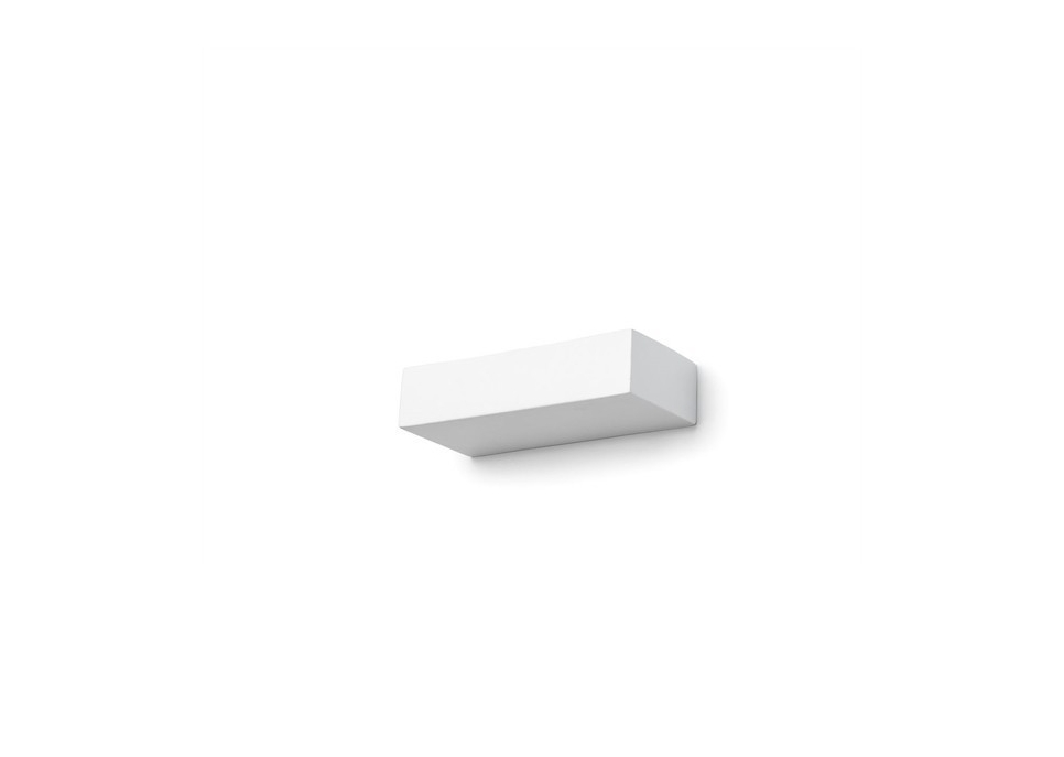 Rectangular Ceramic White Wall Lamp - small lamp shop bylight.pl