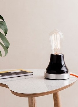 Lumica Lamp: Black & Aluminium