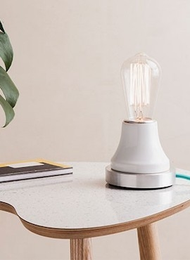 Lumica Lamp: White & Aluminium