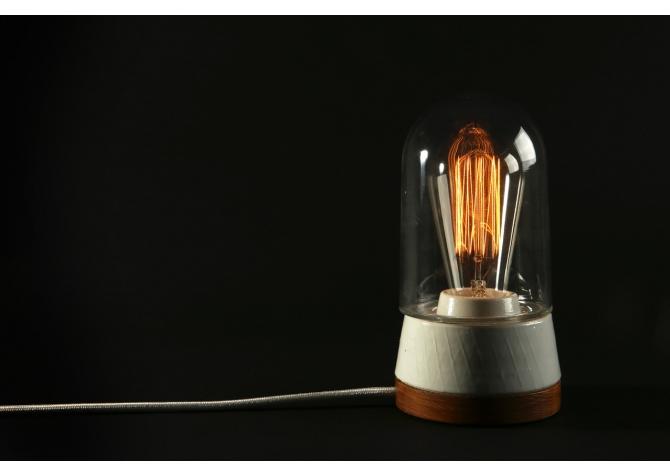 Lampka restaurowana biurkowa 01