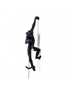 Monkey Wall Lamp Black