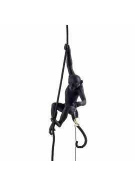 Monkey Lamp Black - wisząca