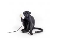 Monkey Lamp Black - siedząca