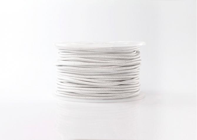 kabel biały metalizowany