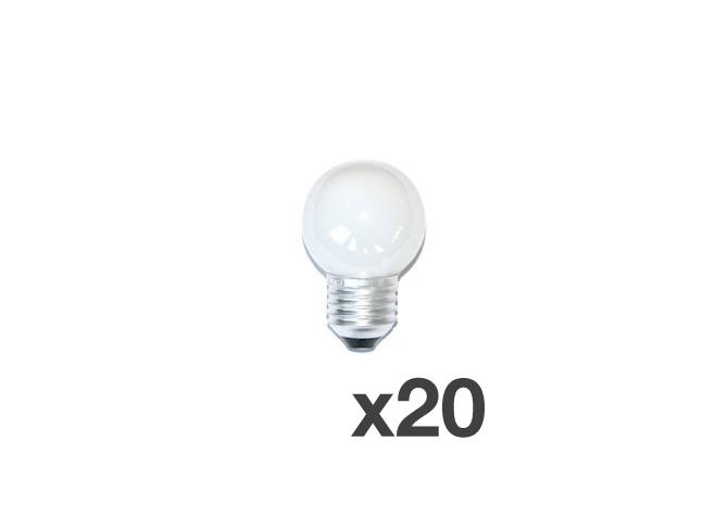 Set of 20 lightbulbs for festoon lights