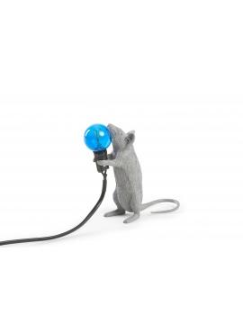 Lampa Biurkowa - Stojąca Mysz Szara