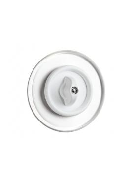 Włącznik obrotowy PT biały do ramki szklanej 02