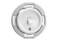 Włącznik dźwigniowy PT biały