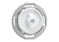 Włącznik obrotowy PT biały do ramki szklanej 01